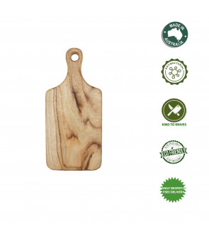 Personalised Cutting Board Small Paddle Camphor Laurel Australian Made
